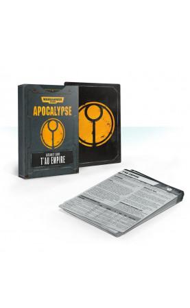Apocalypse Datasheet Cards: T'au Empire (Anglais)