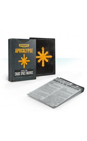 Apocalypse Datasheet Cards: Chaos Space Marines (Anglais)