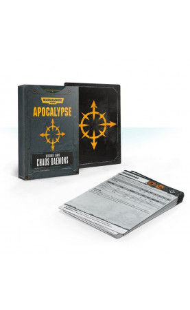 Apocalypse Datasheet Cards: Chaos Daemons (Anglais)