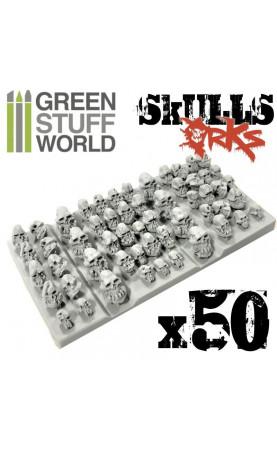 50x Crânes ORCS en résine