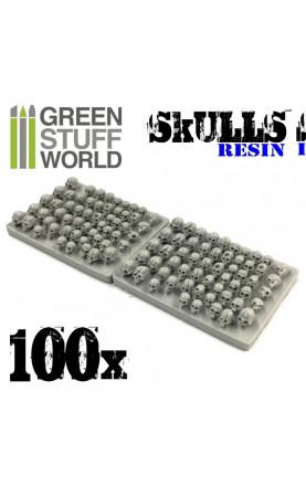 100x Crânes Humains en résine