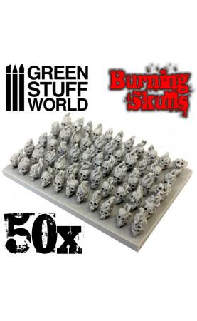 50x Crânes Humains Brûlants...