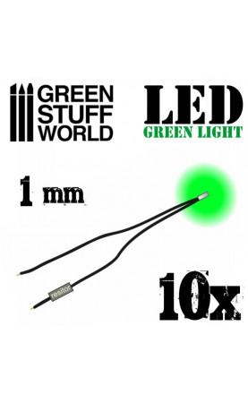 Lumières LED Vertes - 1mm