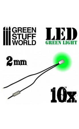 Lumières LED Vertes - 2mm