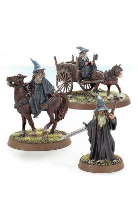 Gandalf the Grey à pied, monté et sur charrette