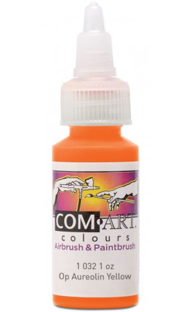 Com Art Colours Acrylic Opaque Aureolin Yellow 1 oz / 28ml