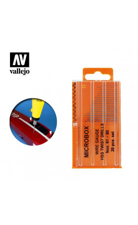 [Vallejo Hobby Tools] Microbox drill set (20) 61-80 - T01002
