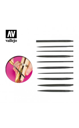 [Vallejo Hobby Tools] Budget needle file set (10) - T03001