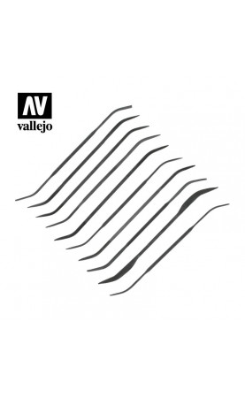 [Vallejo Hobby Tools] Budget riffler file set (10) - T03003