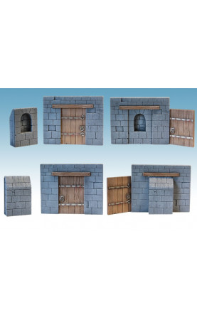 Mur et porte de taverne