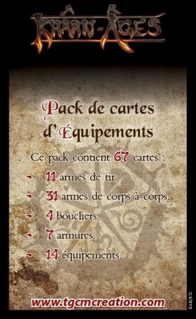 Pack de Cartes d'équipements