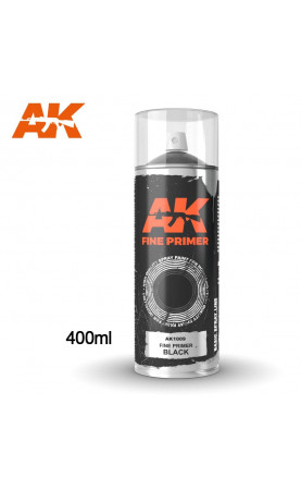 AK1009 - FINE PRIMER BLACK SPRAY