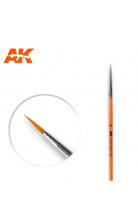 AK601 - 3/0 Round Brush. Synthetic