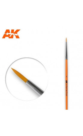 AK603 - 1 Round Brush. Synthetic