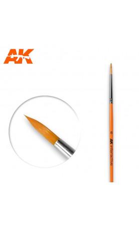 AK606 - 6 Round Brush. Synthetic