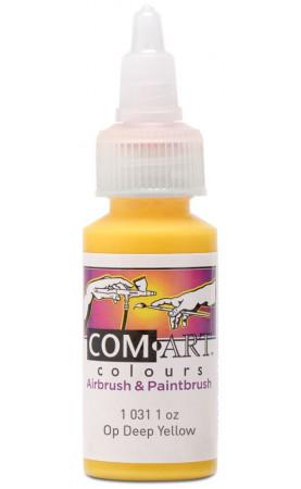 Com Art Colours Acrylic Opaque Deep Yellow 1 oz / 28ml
