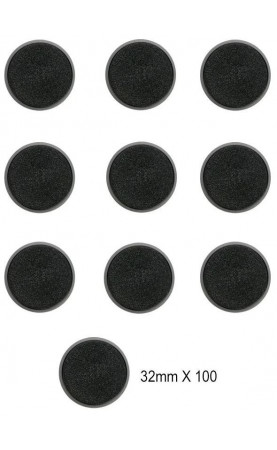 Socles Ronds Citadel de 32mm (pack de 100)