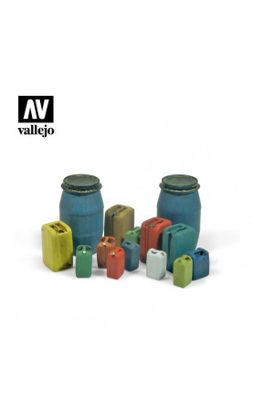 Assorted Modern Plastic Drums (2)