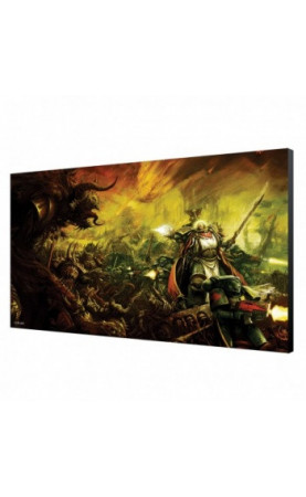 Dark Angels in Battle Wood Panel - Warhammer 40K