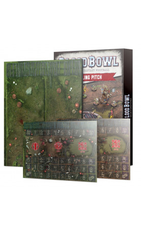 Blood Bowl Double-sided Snotling Pitch and Dugout Set...