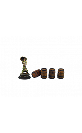 Medium Wooden Barrels (4)