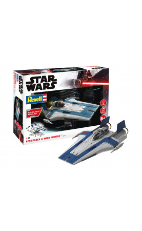 Star Wars - Resistance A-Wing Fighter blue (1:44)