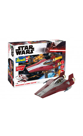 Star Wars - Resistance A-Wing Fighter red (1:44)
