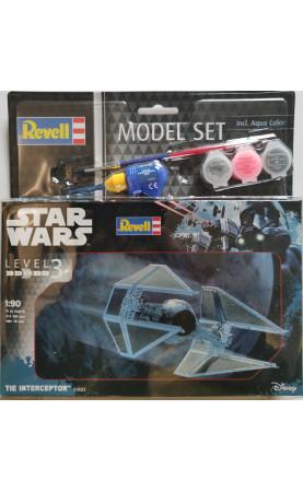 Star Wars - Tie Interceptor (1:90) Model Set